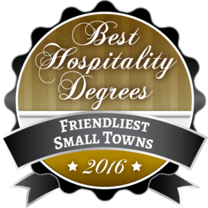 Best Hospitality Degrees - Friendliest Small Towns 2016